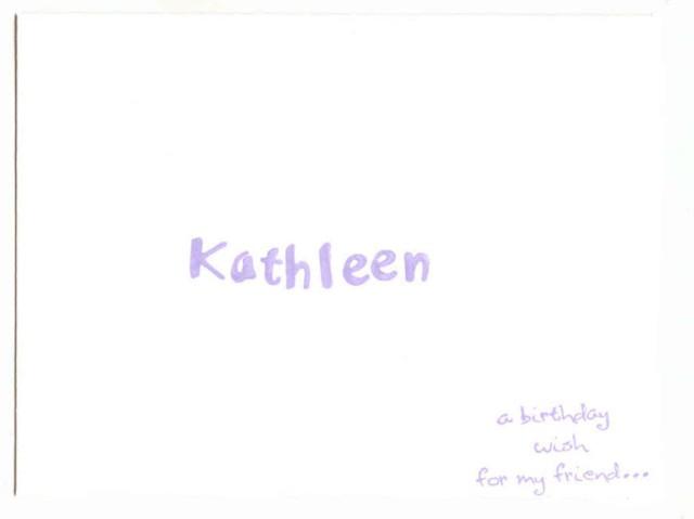 Big Birthday Greetings Envelope (Front)