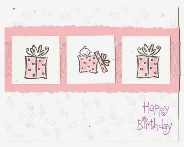 Baby Happy Birthday Card