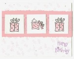 Baby Happy Birthday Card