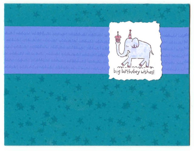 Big Birthday Wishes Card (Taken with Teal)